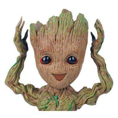 Tree Man Flower Pot Doll Model Desk Ornament Gift Toy