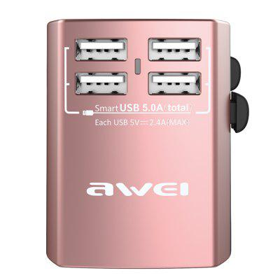 Awei C - 36 Universal Travel Adapter 4 USB Wall Charger