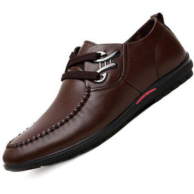 Men Fashion Business Soft Anti-slip Leather Casual Shoes