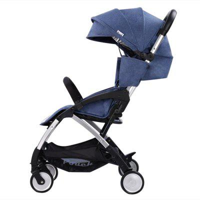 POUCH Lightweight Travel Baby Umbrella Stroller STEEL BLUE
