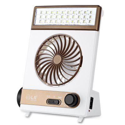 Portable Outdoor Solar Power Camping LED Fan