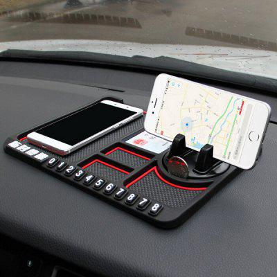 Car Temporary Parking Sign Panel Storage Mat Anti-skid Pad Phone Holder