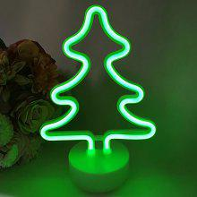 LED Christmas Tree Shape Night Light with Round Base