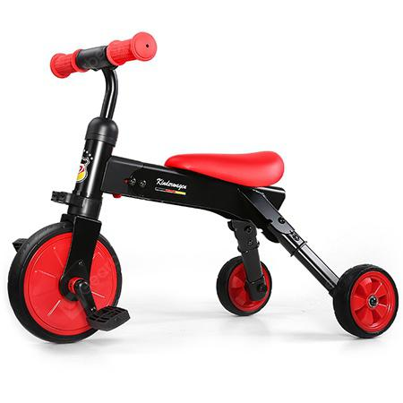 POUCH 2 in 1 Folding Tricycle Riding Slide Toy for Kids - RED