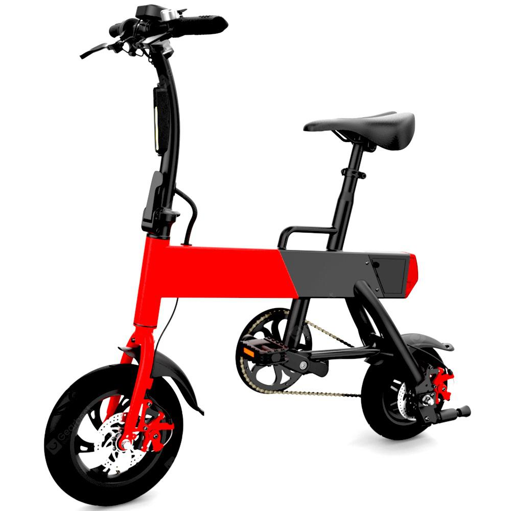 DoubleHunter P12 + Folding Bike Moped Electric Bike E-bike - RED EU