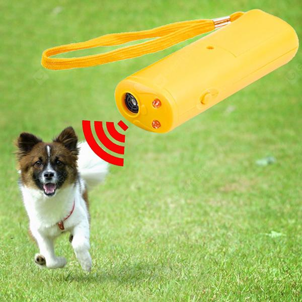 SUP4 Ultrasonic Anti-barking Training Device LED Dog Trainer - RUBBER DUCKY YELLOW from Gearbest Image