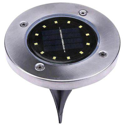 12 LED Solar Power Buried Ground Light Path Way Garden Decking Lamp
