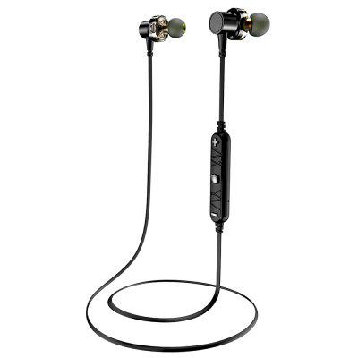 Awei X660BL Quad-core Necked Magnetic Bluetooth Earphone awei a860bl sport bluetooth earphones with mic gold