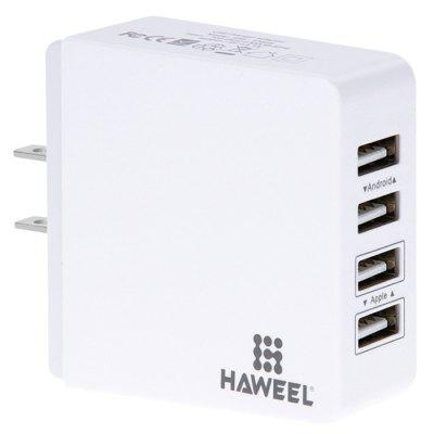 HAWEEL HWL - 3300W 3.1A US Plug Travelling Direct Charger with 4 USB Port itian us plug k4 power charger adapter kit