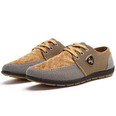 Men Fashion Splicing Breathable Canvas Casual Shoes женские брюки brand new 2015
