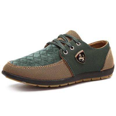 Men Fashion Splicing Breathable Canvas Casual Shoes