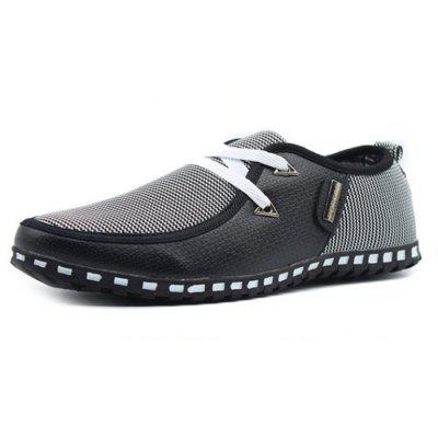 Homens Moda Splicing Anti-slip Casual Shoes