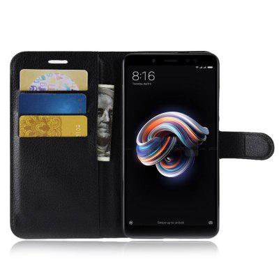 Naxtop Phone Wallet Flip PU Leather + TPU Holder Cover Case voor Xiaomi redmi Note 5 Pro