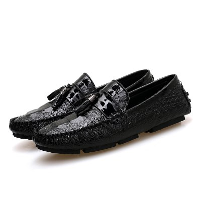 Round Toe Breathable Casual Leather Doug Shoes for Men mycolen spring autumn 2018 new fashion round toe casual shoes men breathable lace up flats men casual shoes zapatillas hombre