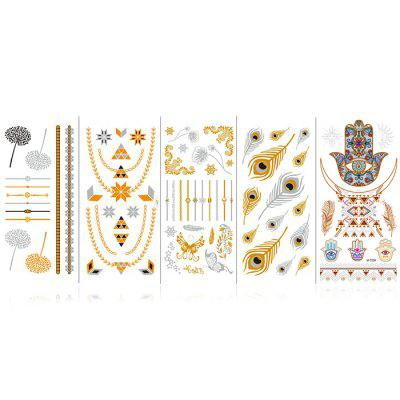 Trendy Tattoo Pattern Sticker 5pcs
