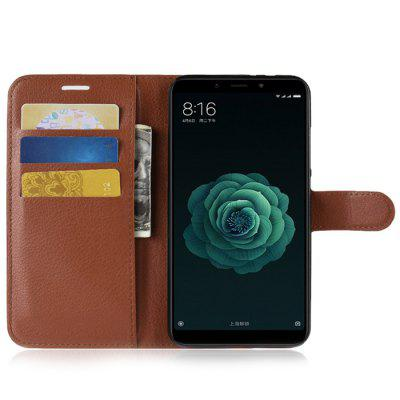 Naxtop Phone Wallet Flip Magnetic PU Leather + TPU Holder Cover Case for Xiaomi Mi A2 ( Mi 6X ) micro usb data sync charging station w separate battery charger dock for lg g pro 2 black grey
