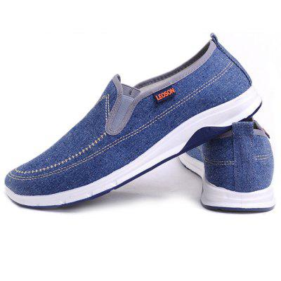 Men Leisure lélegző Slip-on Canvas Flat Shoes