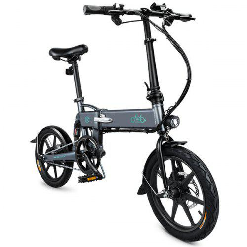 Gearbest FIIDO D2 Folding Moped Electric Bike E-bike - SLATE GRAY 7.8Ah Battery / with Double Disc Brakes