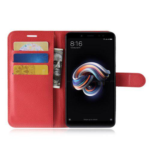 Naxtop Phone Wallet Flip PU Leather + TPU Holder Cover Case for Xiaomi Redmi Note 5