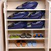 Large Non-woven + PVC Dustproof Shoe Storage Bag 10pcs - CADETBLUE