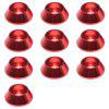 M3 Screw Gasket Cup Head Aluminum Alloy 10pcs - RED WINE