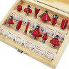 Carbon Steel Woodworking Milling Cutter Kit - RED