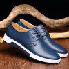 Men Fashion British Style Breathable Casual Shoes - STEEL BLUE