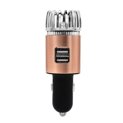 JO - 6291 Car Air Purifier Car Charger 2 in 1 Ionic Air Cleaner Ionizer