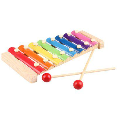 Children Wooden Octave Hand Knock Xylophone Toy