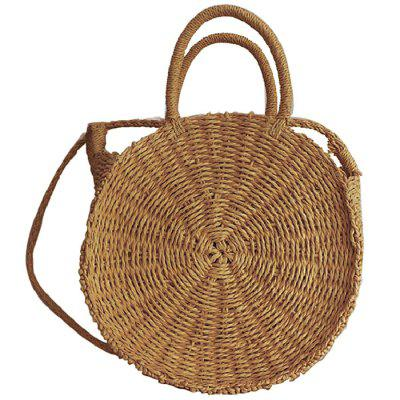 Straw Bag Round Hand-woven Sling Bag