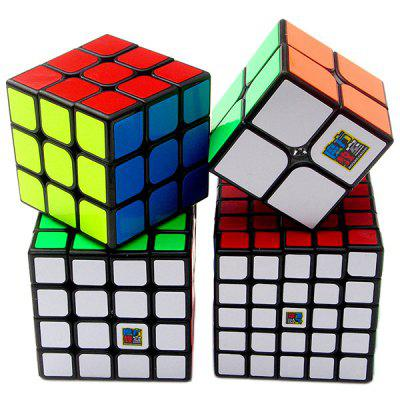 MoYu Non slip Fluorescent Puzzle Magic Cube 4pcs / Set MULTI A