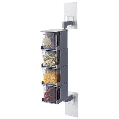 Multifunctional Wall-mounted Rotatable Seasoning Box clear seasoning bottle