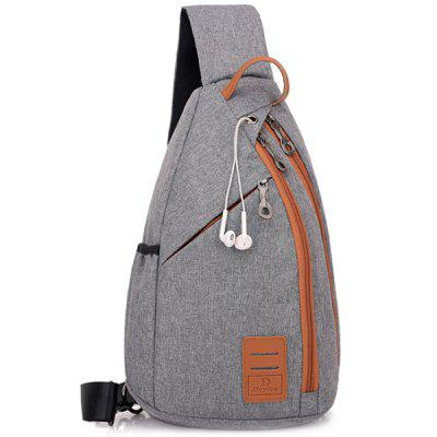 Outdoor Multifunctional Chest Bag with Headphone Hole