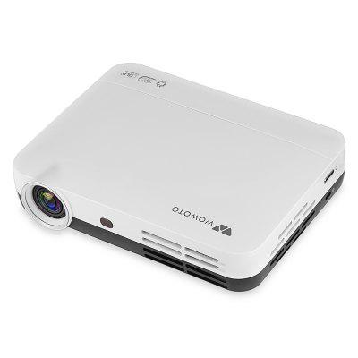 WOWOTO H8 Home Theater Video DLP Projector - WHITE EU PLUG