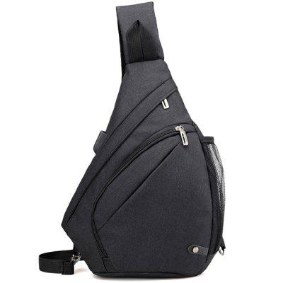 HUWAIJIANFENG Men Chest Bag with USB Charging Port