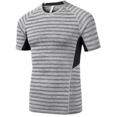 Men Outdoor Breathable Quick-drying Sports Stripe T-shirt ручка роллер cross sauvage blue at0315 5