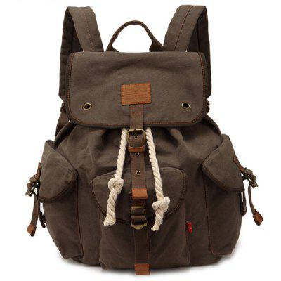 Trendy Outdoor Large Capacity Durable Canvas Backpack