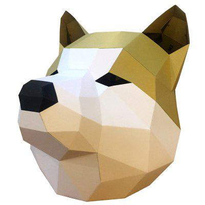 DIY Paper Handmade Head Halloween Mask 1pcs lot ds24b full head mask fox head mask halloween mask funny nick fox latex realistic crazy rubber party sell at a loss usa