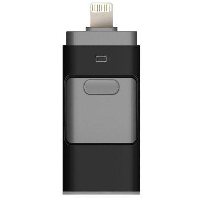 Portátil 3-em-1 Smart Phone USB Flash Disk com 8 Pin / Micro USB Plug