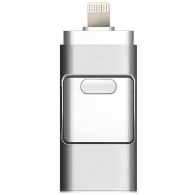 Portable 3-in-1 Smart Phone USB Flash Disk with 8 Pin / Micro USB Plug