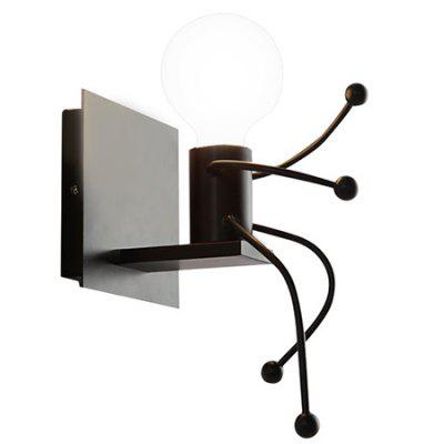 Фото Wrought Iron Villain Wall LED Lamp for Dining Room