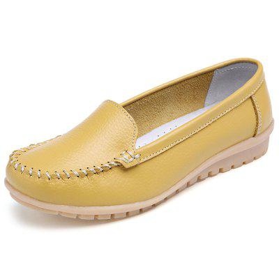 Fashion Soft Handcrafted Anti-slip Leather Casual Shoes