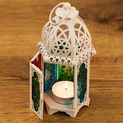 European Stained Glass Castle Lantern Home Decor Lamp