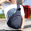 HUWAIJIANFENG Men Chest Bag with USB Charging Port - DARK SLATE BLUE