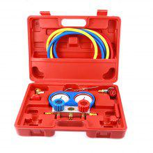 Air Conditioner Refrigerant Manifold Gauge Kit for R134a / HVAC