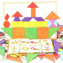 Early Education Tangram Puzzle for 2 - 6 Years Old Children
