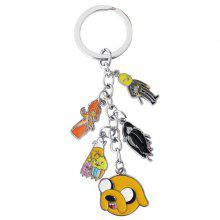 Jake Lovely Key Chains Finn Key Chains Action Figure Five Pendant Keyrings