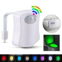 8 Color Toilet Induction Lamp Mounted Light - White
