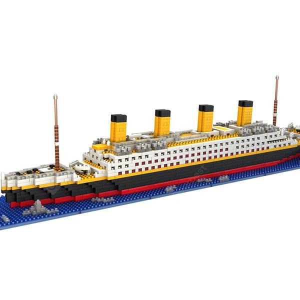 DIY Titanic Shape Block Toys for Children - MULTI-A