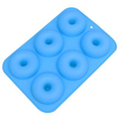 6-hole Round Shape Silicone Donuts Mold